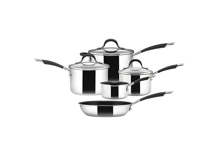 Circulon Momentum Saucepan and Frypan, Stainless Steel, Set of 5 - 1