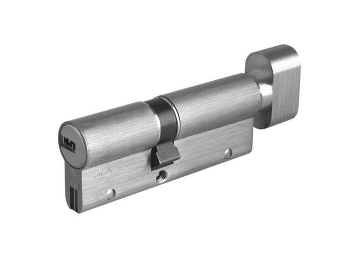 CISA Astral S Euro Key & Turn Cylinder - 90mm 40/T50 (35/10/T45) KD NP - 1