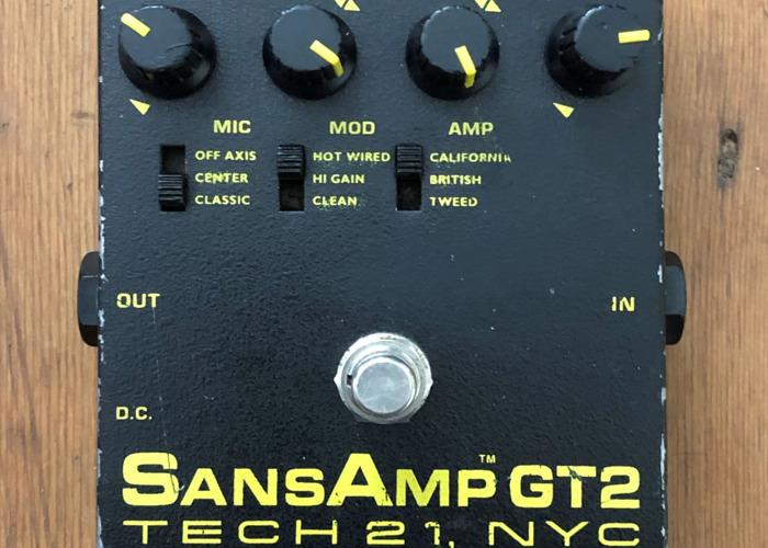 Classic SansAmp GT2 Tube Amp Emulator Guitar Effects Pedal - 1