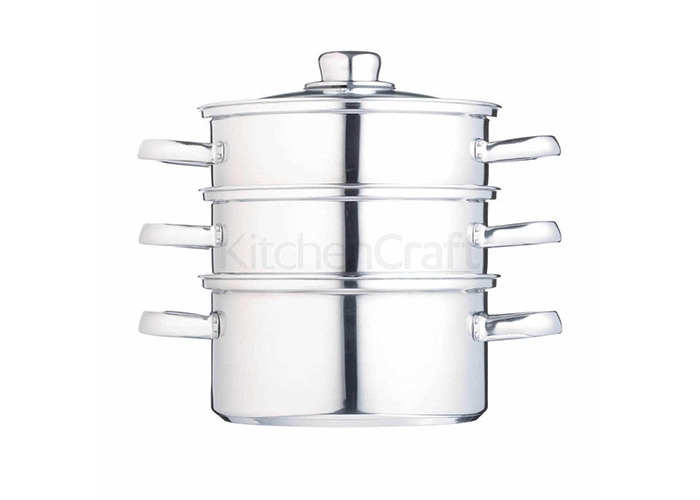 Clearview Stainless Steel Three Tier Steamer 16cm - 1