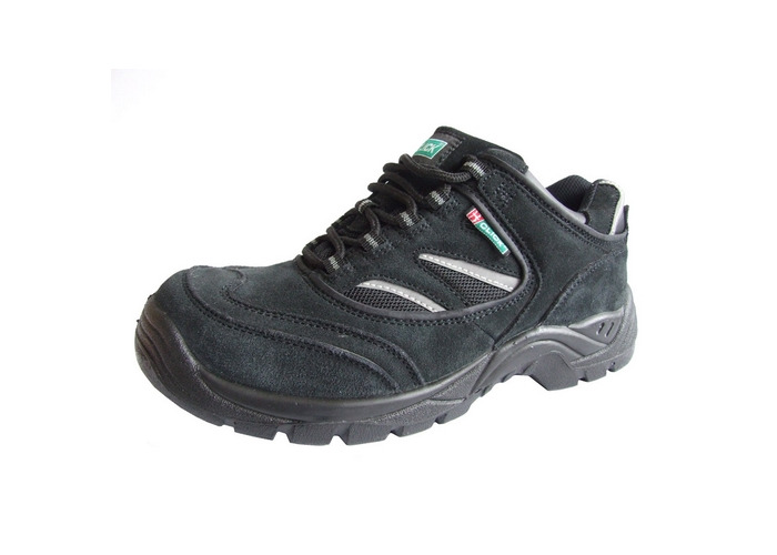 8da12b484bb Click CDDTB11 Safety Trainer Shoes With Steel Toecap and Midsole Shock  Absorbing Heel Black Size 11