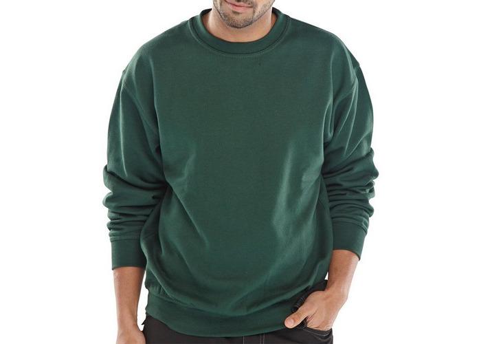 Click CLPCSBGS Sweatshirt Fleece Lined Bottle Green Small - 1