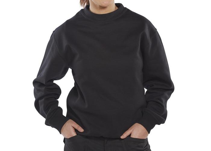 Click CLPCSBLXXXL Sweatshirt Fleece Lined Black XXXL - 1
