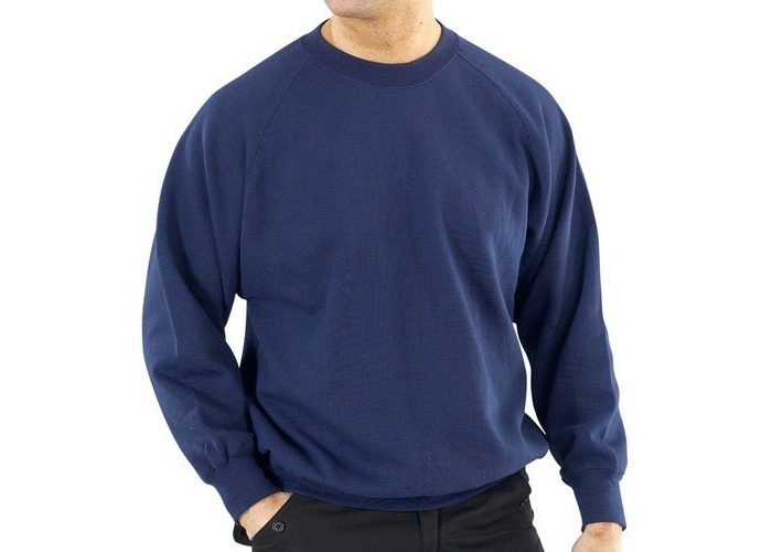 Click CLPCSN4XL Sweatshirt Fleece Lined Navy Blue 4XL - 1