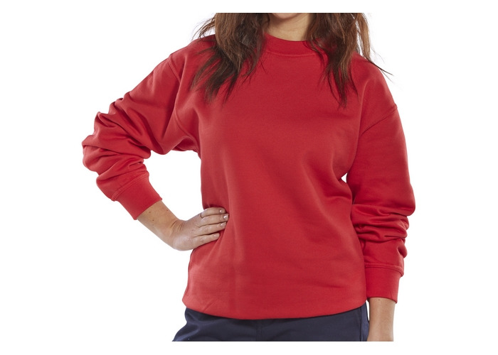 Click CLPCSREXXL Sweatshirt Fleece Lined Red XXL - 1
