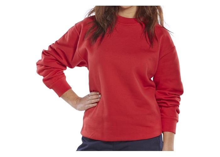 Click CLPCSREXXXL Sweatshirt Fleece Lined Red XXXL - 1