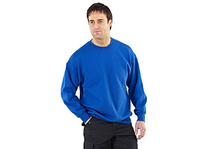 Click CLPCSRXXXL Sweatshirt Fleece Lined Royal Blue 3XL - 1