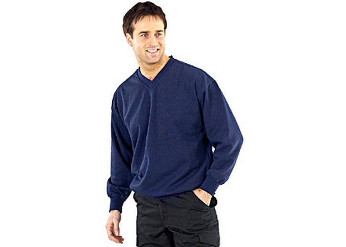 Click CLVPCSNXXXL V Neck Sweatshirt Navy Blue XXXL - 1