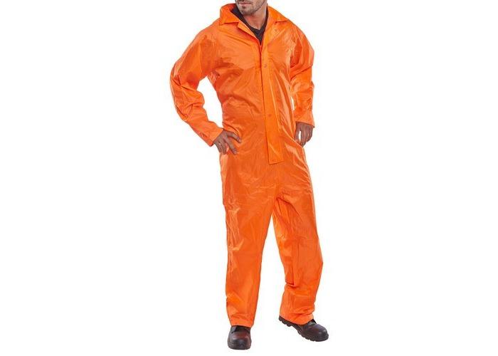 Click NBDCORXXL Nylon Waterproof Coverall With Hood Orange XXL - 1