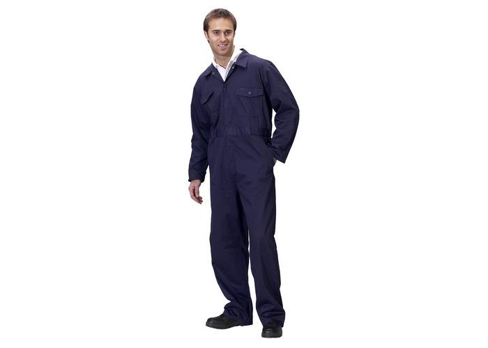 """Click PCBSN36 Polycotton Boiler Suit Navy Blue 36"""" - 1"""