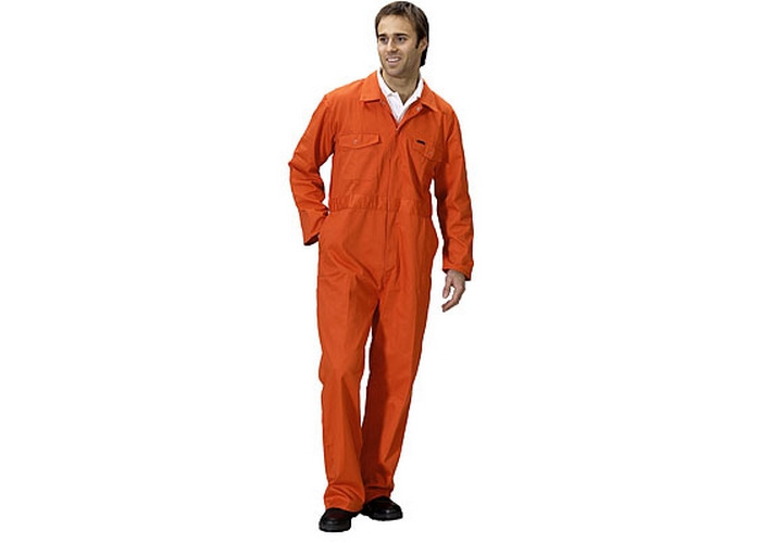 "Click PCBSOR36 Polycotton Boiler Suit Orange 36"" - 1"