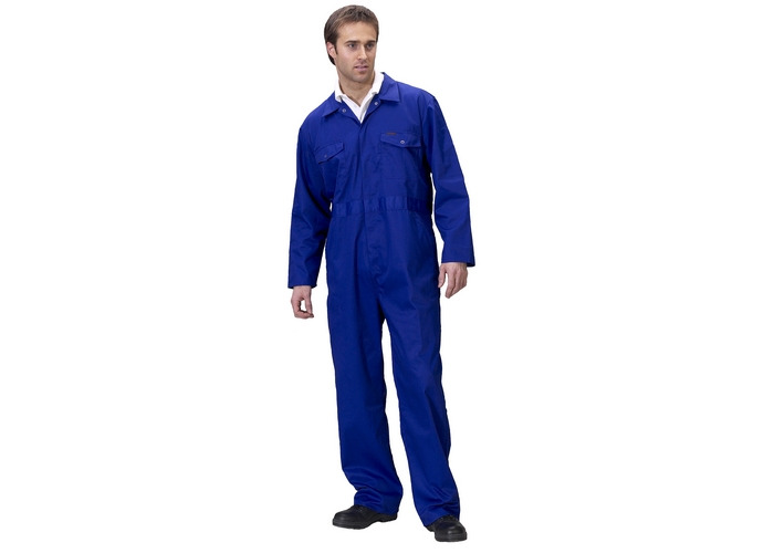 "Click PCBSR56 Polycotton Boiler Suit Royal Blue 56"" - 1"