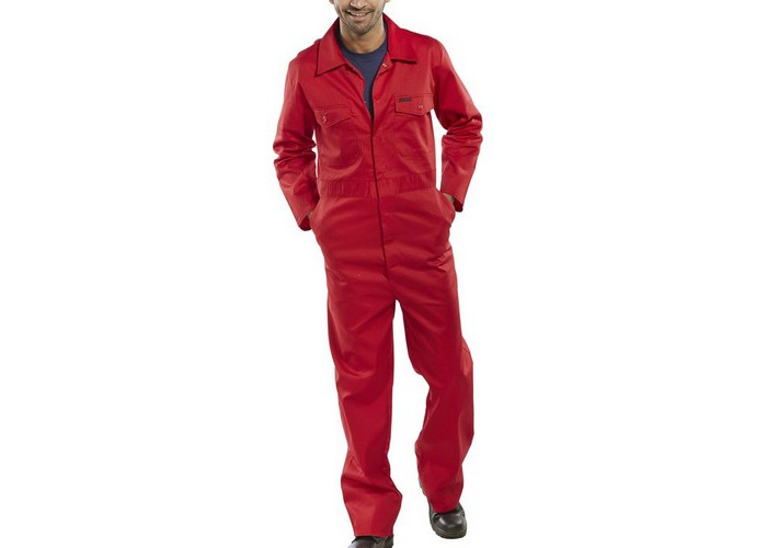 "Click PCBSRE42 Polycotton Boiler Suit Red 42"" - 1"