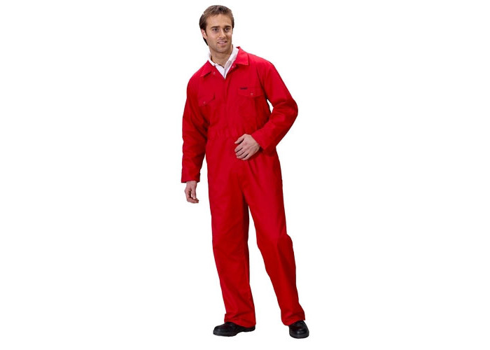 "Click PCBSRE54 Polycotton Boiler Suit Red 54"" - 1"