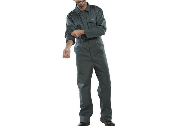 "Click PCBSS40 Polycotton Boiler Suit Spruce Green 40"" - 1"