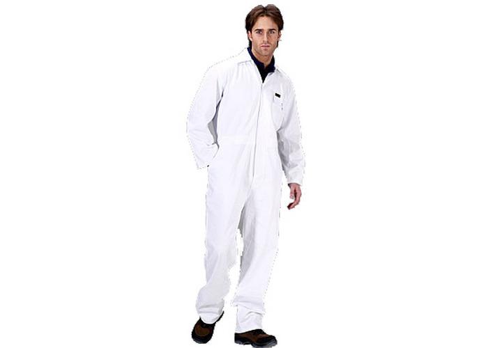 """Click PCBSW52 Polycotton Boiler Suit White 52"""" - 1"""