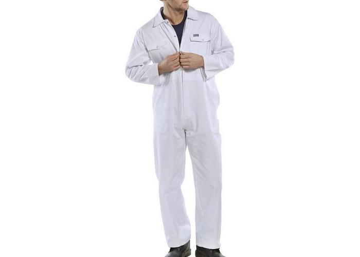 """Click PCBSW56 Polycotton Boiler Suit White 56"""" - 1"""