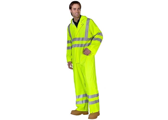 Click PUC471SY4XL Hi Vis Yellow Breathable Coverall EN471 4XL - 1