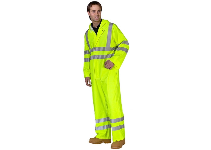 Click PUC471SYXL Hi Vis Yellow Breathable Coverall EN471 XL - 1
