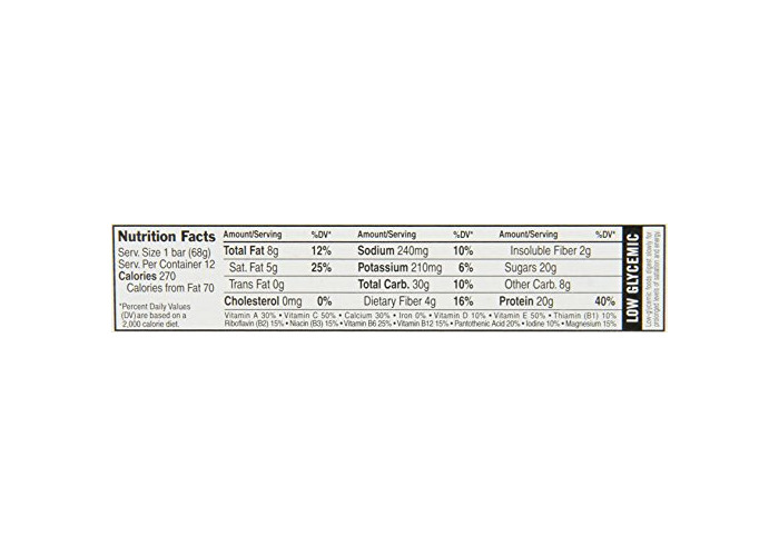 Clif Bar - Builder'S Bar, Cookies And Cream, 2.4-Ounce Bars, 12 Count - 2