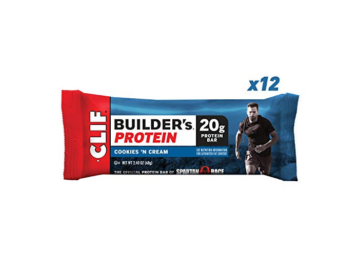Clif Bar - Builder'S Bar, Cookies And Cream, 2.4-Ounce Bars, 12 Count - 1