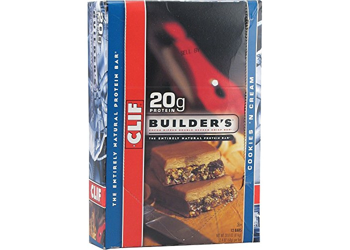 Clif Builder's Bar Cookies and Cream 68g (Pack of 12), 816g Total - 1