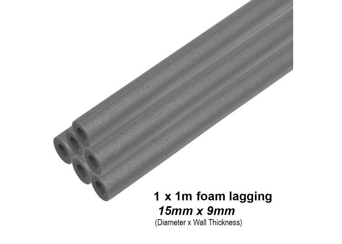 Climaflex Foam Pipe Insulation Lagging | 28mm x 13mm (5 x 1m Lengths) - 2
