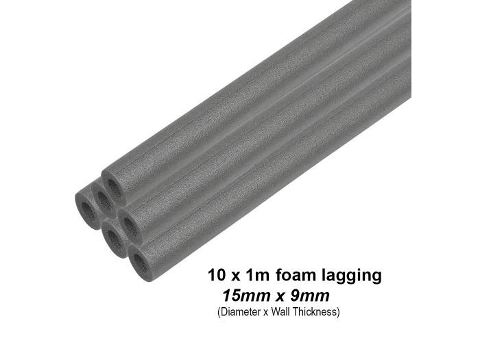 Climaflex Foam Pipe Insulation Lagging | 28mm x 13mm (5 x 1m Lengths) - 1