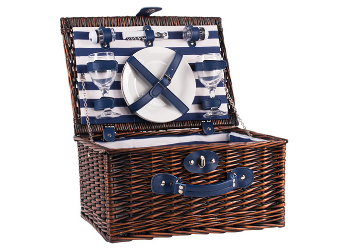 Coast 2 Person Wicker Picnic Basket Set - 1