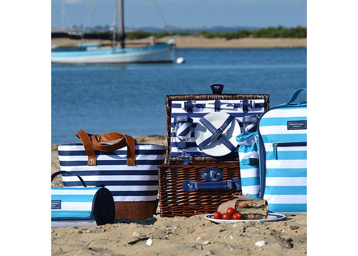 Coast 2 Person Wicker Picnic Basket Set - 2