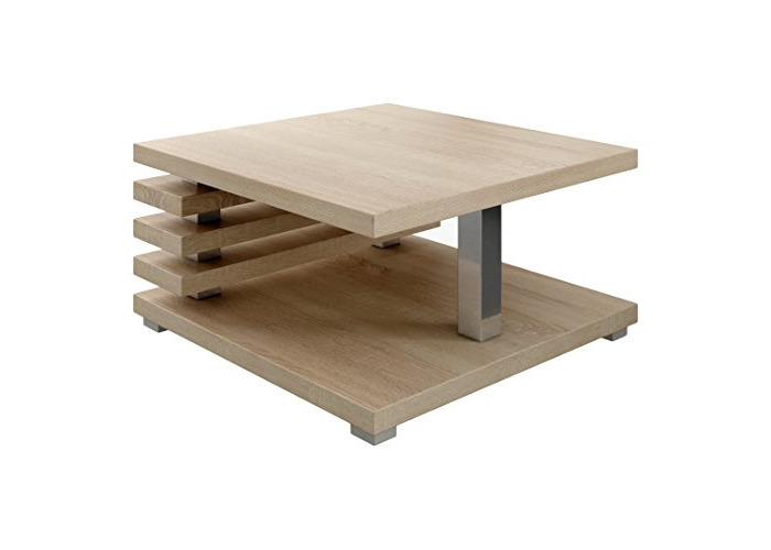 Coffee Table living room Oslo 60 x 60 cm Light Oak Wood Sonoma - 1