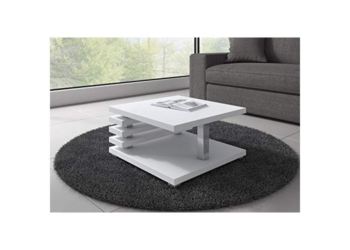 Coffee Table living room Oslo 60 x 60 cm Matte White - 1