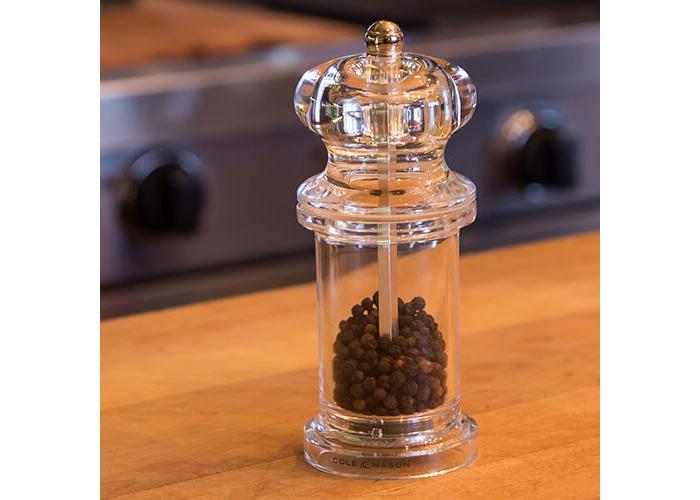 Cole & Mason 505 Clear Acrylic Precision Pepper Mill - 2