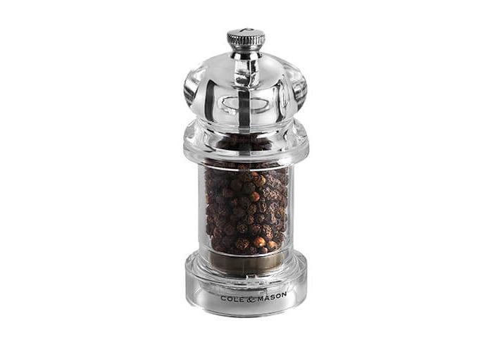 Cole & Mason 575 Clear Acrylic Precision Pepper Mill - 1