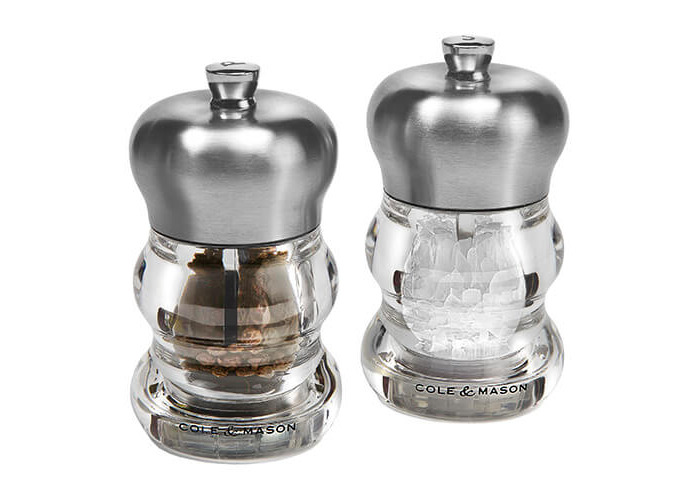 Cole & Mason H307098P Precision Ascot Salt and Pepper Gift Set, Transparent/Silver - 1