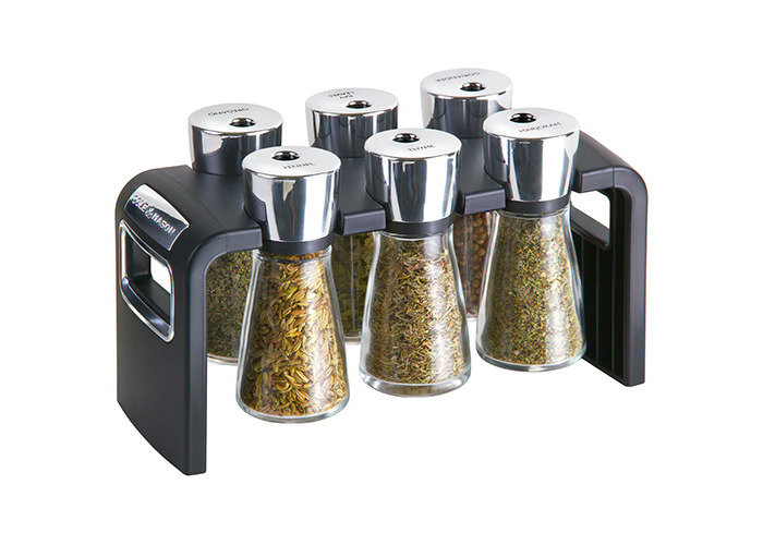 Cole and Mason 6-Jar Filled Shaw Herb and Spice Rack - 1