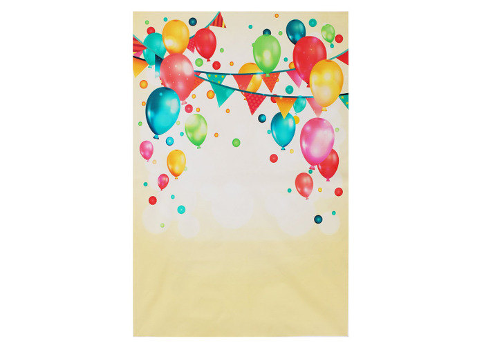 Colorful Balloon Kids Party Celebration Photography Backdrop Wall Art Hanging Photo Background - 1