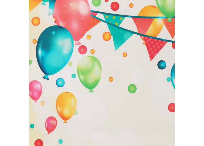 Colorful Balloon Kids Party Celebration Photography Backdrop Wall Art Hanging Photo Background - 2