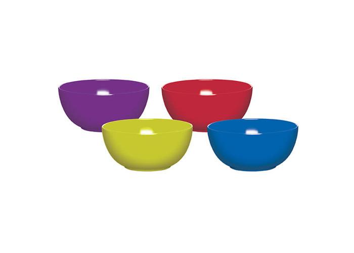 Colourworks Set of Four 15cm Melamine Bowls - 1