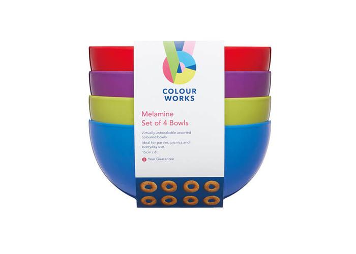 Colourworks Set of Four 15cm Melamine Bowls - 2