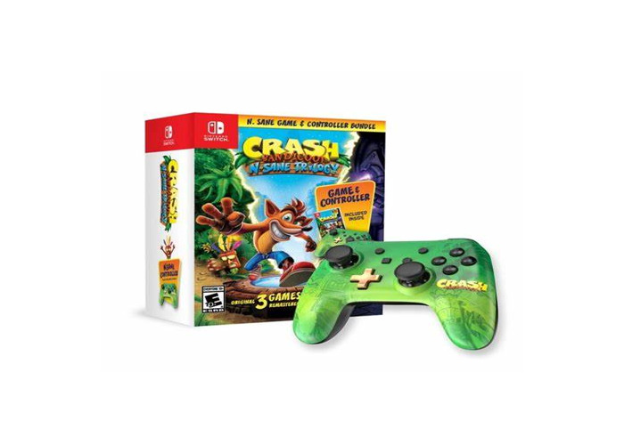 Comes with one controller and crash bandicoot  - 1