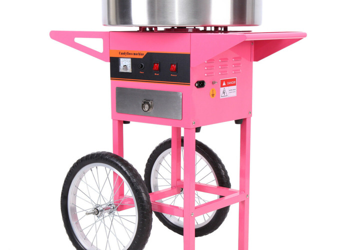 Candy Floss/Cotton Candy Machine with Cart - Commercial Grade - Brand New - 1