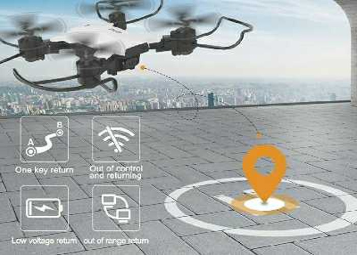Compact GPS Smart Drone with 1080P HD camera - 2