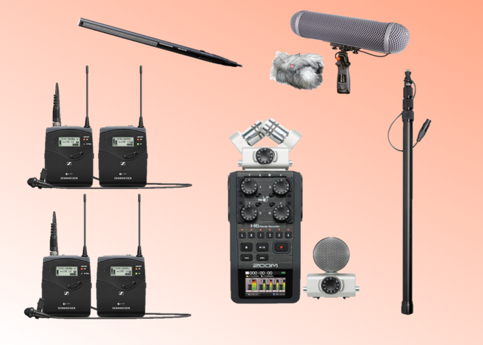 Complete Sound Recording Kit (Sennheiser MKH 416 Shotgun, Rycote Blimp, K-Tek K81 Boom Pole (Internal XLR Cable), Zoom H6, 2x G4 Sennheiser EW 112p Lav Mic Sets) *Upgrade to G3 EW100 - 1