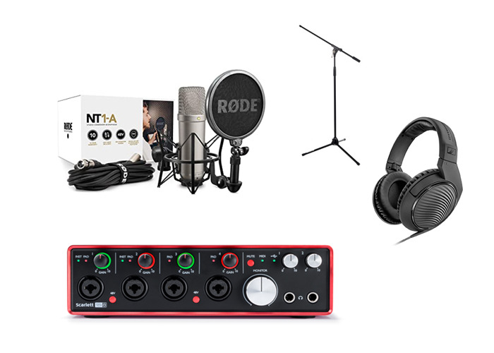 Condenser Microphone Recording Package - Mic, Soundcard, etc - 1