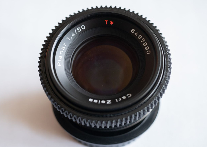 Contax Zeiss 50mm Planar 1.4 with Leitax Canon EF mount - 1