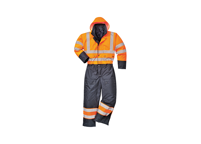 Contrast Coverall Lined  OrNa  XL  R - 1
