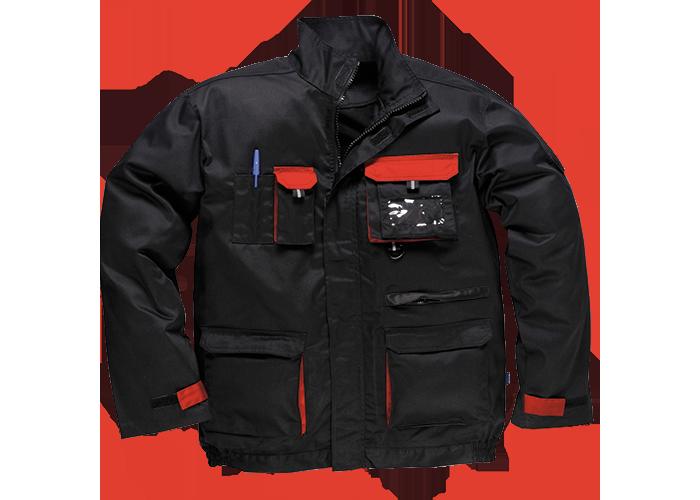 Contrast Jacket  BkRed  Medium  R - 1