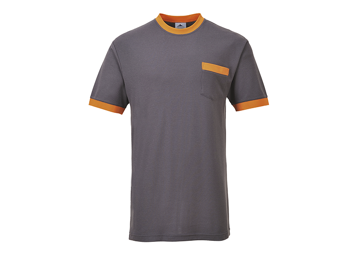 Contrast T-Shirt  Grey  Small  R - 1