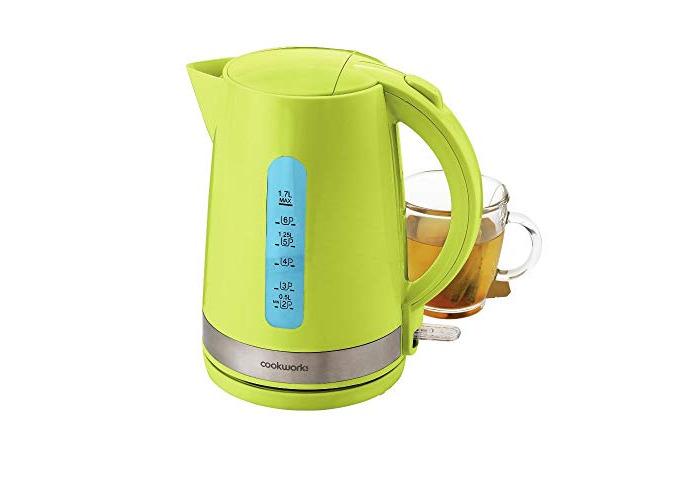 CookWorks 3kW 1.7L Cordless Illumination Jug Kettle - Green - 1